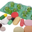 Close-up of medicines in blister packs — Stock Photo