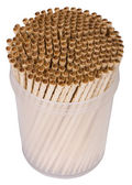 Close-up of toothpicks in a container — Stock Photo