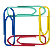 Close-up of assorted paper clips — Stock Photo
