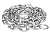 Curled up metal chain — Stock Photo