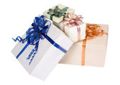 Close-up of gift boxes — Stock Photo
