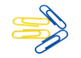 Close-up of paper clips arranged in arrow shape — Stock Photo
