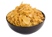 Close-up of a bowl of corn flakes — Stock Photo