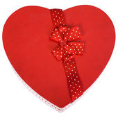 Close-up of a heart shaped gift box — Stock Photo