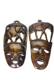 Close-up of two wooden masks — Stock Photo