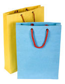 Close-up of two shopping bags — Stock Photo
