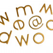 Stock Photo: Internet symbols with assorted alphabets