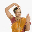 Indian woman making hand gesture — Stock Photo