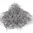 Heap of straight pins — Stock Photo