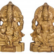 Figurines of Goddess Lakshmi and Lord Ganesha — Stock Photo #32998125
