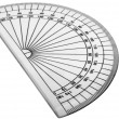 Close-up of a protractor — Stock Photo