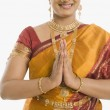 Indian woman greeting — Stock Photo #32999593