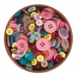 Close-up of a bowl full of buttons — Stock Photo #32999637