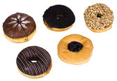 Close-up of assorted donuts — Stock Photo