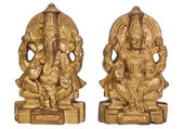 Figurines of Goddess Lakshmi and Lord Ganesha — Stok fotoğraf