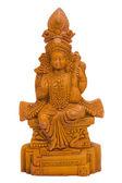Nahaufnahme von einer figur der göttin saraswati — Stockfoto