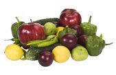 Close-up de legumes e frutas — Foto Stock