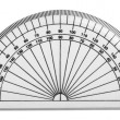 Stock Photo: Close-up of protractor