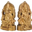 Figurines of Goddess Lakshmi and Lord Ganesha — Stock Photo
