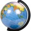 Close-up of a desktop globe — Stockfoto
