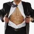 Man showing abs — Stock Photo