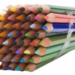 Close-up of a bundle of colored pencils — Stock Photo