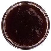 Close-up of a jar of strawberry jam — Stock Photo