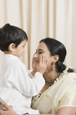 Woman loving with her son — Stock Photo