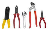 Close-up of assorted hand tools — Stock Photo