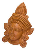 Close-up of a figurine of Goddess Durga — Foto Stock