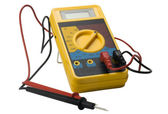 Close-up of a digital multimeter — Stok fotoğraf