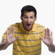 Man showing stop gesture — Stock Photo #33025793