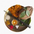Religious offerings in a thali — Stock Photo #33026403