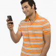 Man text messaging — Stock Photo