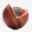 Worn out cricket ball — Stock Photo