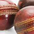 Old and new cricket balls — Stock Photo