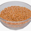 Red lentil in a bowl — Stock Photo
