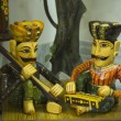 Figurines playing musical instruments — Stok fotoğraf