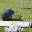 Cricket batting gears — Stock Photo
