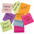 Notes with job messages — Stock Photo