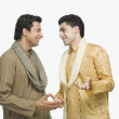 Two men talking with each other — Stock Photo #33036765