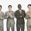 Stock Photo: Businessmen applauding