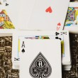 Ace of spade on other cards — Stock Photo