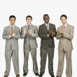 Foto Stock: Businessmen applauding