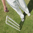 Stock Photo: Cricket player tossing coin