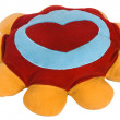 Heart shape on a cushion — Stock Photo #33039577