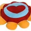 Stock Photo: Heart shape on cushion