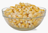 Corn kernels in a bowl — Stock Photo