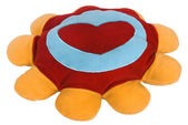 Heart shape on a cushion — Stock Photo