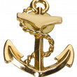 Anchor shaped brooch — Foto Stock